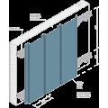 Реечный потолок A190С / А200С оцинков белый матовый А903