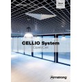 Решетчатый подвесной потолок Cellio C16 (150x150x37) - серебристый (Целлио) Разобраный 600x600x37mm BP9006M6JSGKIT