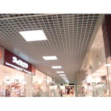 Потолок Грильято 100х100 ( выс.40/шир.10) металлик А907 rus